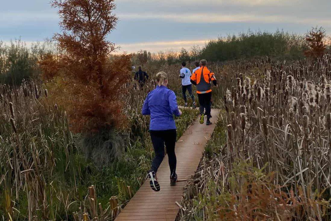 hardlopen Riet_zonsondergang